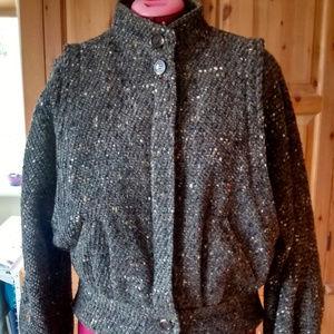 Jackets & Blazers - Vintage Brown Wool Tweed Jacket